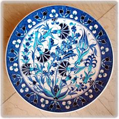 Clay Plates, Ceramic Plates, Ceramic Pottery, Turkish Tiles, Turkish Art, Islamic Tiles, Islamic Art, Tile Art, Mosaic Art