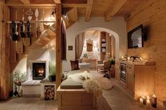Amazing #living at Inns Holz, Bohemian Forest, Austria. Discover more about this holiday village at http://impressivemagazine.com/2013/12/11/winter-holiday-village-bohemian-forest-austria/