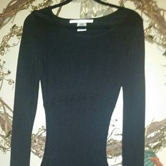 Black Dress any Occasion Black Sweater Dress Pleated with Scoop Neck Max Studio Dresses Midi
