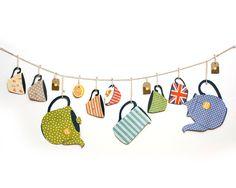 British Tea Party Handmade Garland