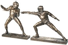 Features:  -Traditional style.  -Bronze finish.  -Made of resin.  Product Type: -Figurine.  Style: -Traditional.  Theme: -Sports and recreation.  Subject: -People.  Finish: -Bronze.  Primary Material: