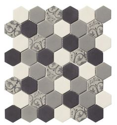 Recycled Hexagon Glass Tile Ancient Stone is an eco-friendly product for kitchen backsplash, shower, floor, and featured wall. Made with recycled glass from car's windshield and beverage bottles. Order a sample today! Diy Shower, Shower Floor, Shower Ideas, Small Bathtub, Small Bathroom, Cool Rooms, Recycled Glass, Kitchen Backsplash, Backsplash Ideas
