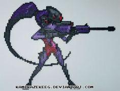 Overwatch Widowmaker Perler Bead by kamikazekeeg