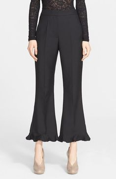 If I were rich....... LOVE these!!!                                                 Stella McCartney 'Myles' Crop Ruffle Hem Pants available at #Nordstrom