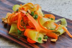 It is appetizing as it looks. Made only with cucumber and carrot with olive lime and lemongrass dressing
