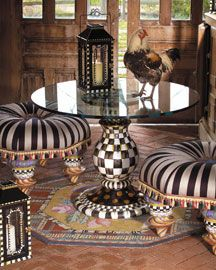 I want this table and stools in my closet room when I am a multi-millionaire with a Kimora Lee-sized closet.