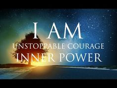 I AM Affirmations ➤ Unstoppable Courage & Inner Power - PowerThoughts Meditation Club Positive Thinking Meditation, Daily Meditation, Morning Affirmations, Positive Affirmations, What Is Affirmation, Meditation Musik, Relaxing Music, Positive Mindset, Positive Life