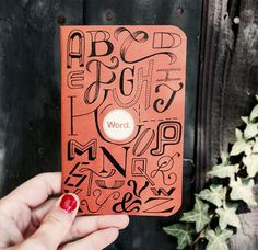 Hand lettering by Roxy Prima on Word Notebook from September's Maker Monthly box.