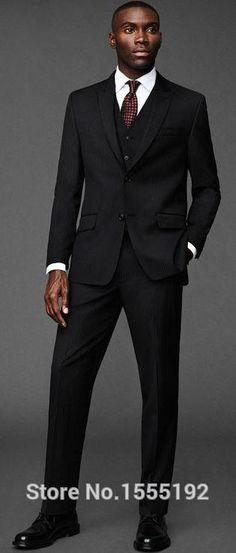 Preto noivo terno do casamento de vestidos de casamento sem risco de compras Modern smoking príncipe colarinho Gun smoking do noivo em Ternos de Moda e Acessórios para Homens no AliExpress.com | Alibaba Group