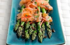 British Asparagus, Smoked Salmon with Ginger and Soy Dressing