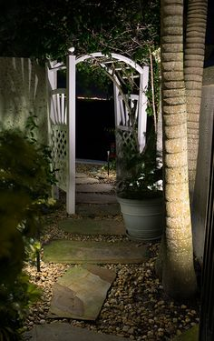 Pathway Lighting, Outdoor Lighting, Cool Landscapes, Pathways, Light Up, Bulb, Outdoor Structures, Plants
