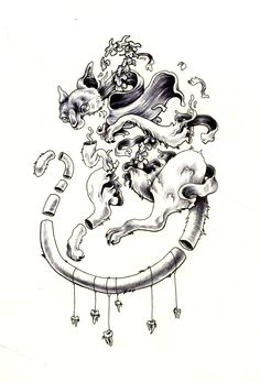 Cheshire Cat pen and ink illustration by Kit Mizeres