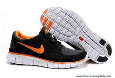 064b85e5a93d9 Best Gift Mens Nike Free Run Black Orange Sneakers The Most Flexible Running  Shoes
