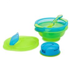 Vital Baby Travel Suction Bowl in Blue and Green - For more travel essentials, join us on Kiddicare.com