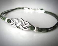 Celtic Knot bracelet Outlander Scottish by JewelryByMaeBee on Etsy