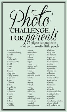 Jamie Moore Photography: Photo Challenge for Parents: 75 photo assignments to capture your little people
