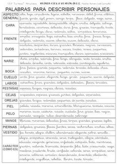 ALGUNOS RECURSOS PARA PRIMARIA: DESCRIPCION DE PERSONAS