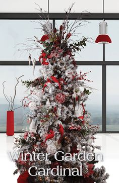 Melrose Designer Christmas Tree 2013: Winter Garden Cardinal