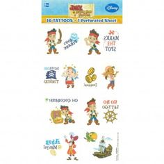 Jake and the Never Land Pirates Tattoos (1 Sheet) | Jake and the Never Land Pirates Party Supplies - Discount Party Supplies