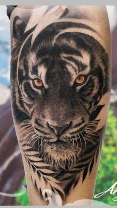 tatto tigre Eye Makeup eye makeup using kajal Tiger Face Tattoo, Tiger Tattoo Sleeve, Tiger Tattoo Design, Sleeve Tattoos, Tigergesicht Tattoo, Lion Tattoo, Leg Tattoos, Body Art Tattoos, Samoan Tattoo