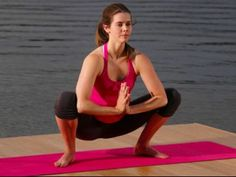 Squat Pose: Malasana. Benefits: Stretches the groins, lower back, sacrum and hips. Stimulates metabolism and digestive organs. Tones the belly