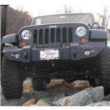 Fab Fours Front Winch Bumper Without Grille Guard For 2007-2010 Jeep JK Wrangler