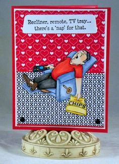 Art Impressions: Lazy Boy Set (Sku#4159) Handmade masculine card. Ai People