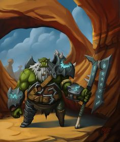 SteP oFf iNt0 tHe DeEp http://hayesart.blogspot.com/ #orc #oldorc #concept #desert #characters