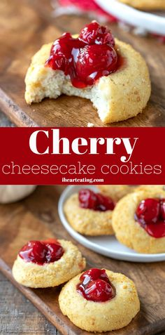 Cherry Cheesecake Cookies cookies and cream cookies christmas cookies easy cookies keto cookies recipes easy Chocolate Chip Shortbread Cookies, Toffee Cookies, Cheesecake Cookies, Spice Cookies, Yummy Cookies, Heart Cookies, Biscotti Cheesecake, Sugar Cookies, Blackberry Cheesecake