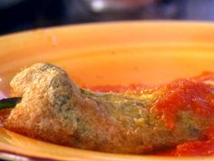 Stuffed Poblano Chiles (Chiles Rellenos) from FoodNetwork.com..going to try this on my fat day