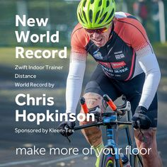 Smashed it! Chris Hopkinson sets New Zwift Indoor Trainer Distance World Record!  Helping to raise over £ 3,000.00 for SEED Madagascar, a wonderful charity doing fantastic work for children and families in the 3rd World country of Madagascar.  Read more…  https://www.kleen-tex.co.uk/news/2018-hoppo-world-record/  #kleentex #makemoreofyourfloor #chrishopkinson
