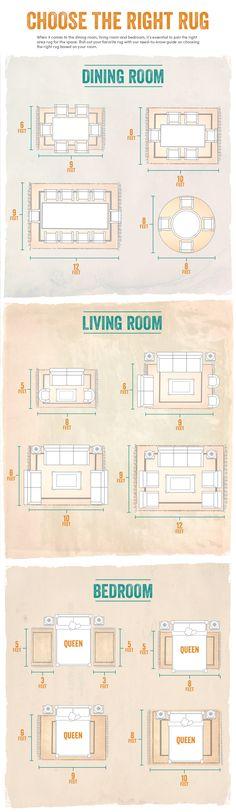 Elegir la alfombra correcta · Choose the right rug