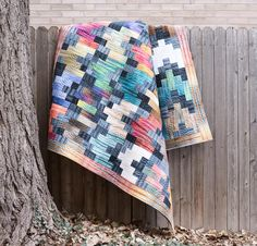 Anthology Shibori Dwellings Quilt - White  Pattern avail. from Legacy patterns, fabrics=hand dyes from Anthology.