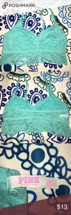 Victoria's Secret Bralette Baby blue PINK bralette! Never worn, size S OFFERS ACCEPTED! Victoria's Secret Tops