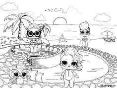 Lol Doll Pets Coloring Pages from Lol Doll Coloring Pages Printable. Toys LOL are treading the peak of popularity among children throughout the world. Even though the doll inside the LOL Surprise ball is not exactly rev. Unicorn Coloring Pages, Cartoon Coloring Pages, Colouring Pages, Coloring Sheets, Adult Coloring, Coloring Books, Unicorn Cat, Heart Images, Lol Dolls