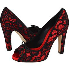 Dolce & Gabbana Red w/ Black lace...sexy.
