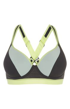 Primark - Grey Lime Underwire Sports Bra