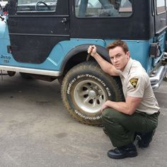 Don't you dare! Step away from the Jeep Parrish!!! Ryan Kelley on the set of Teen Wolf Season 5
