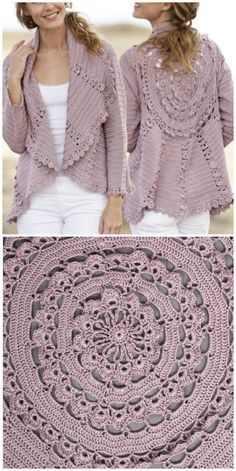 We have put together a collection of Crochet Circular Jacket Pattern Free Ideas that you are going to love. This is one of our most popular posts, check them out now. Crochet Circle Vest, Crochet Bolero Pattern, Crochet Circles, Crochet Poncho, Crochet Scarves, Crochet Clothes, Crochet Sweaters, Crochet Shrugs, Lace Shrug