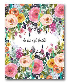 Look what I found on #zulily! 'La vie est belle' Wrapped Canvas #zulilyfinds