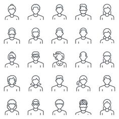Employee, office people avatars Graphics Employee, office people avatars suitable for info graphics, websites and print media and interfaces by howcolour Business Illustration, Pencil Illustration, Fantasy Character, Character Design, Person Icon, Office Icon, Office People, Human Icon, Creative Sketches
