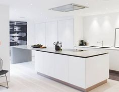 Contemporary kitchen / in wood / island / lacquered - CHELSEA UK ...