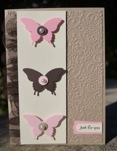 Girls Night In Butterfly Card Stampin Up   Christie's Creative Corner