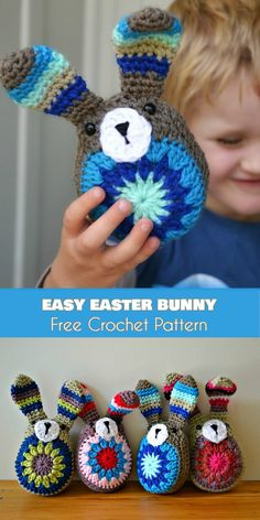 Easy Easter Bunny from Scraps [Free Crochet Pattern]