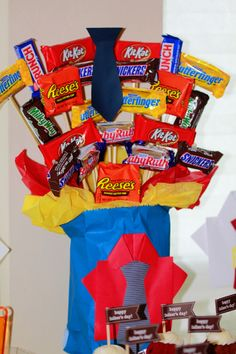 Father's Day We created a candy bouquet using chocolates. #father's day #candy buffets