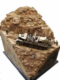 Famo Diorama by Kev Smith Military Figures, Military Diorama, Military Art, Diorama Militar, Train Miniature, Model Tanks, Model Hobbies, Military Modelling, Panzer