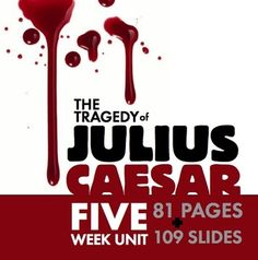 Looking for a fresh approach to pull your students into The Tragedy of Julius Caesar? William Shakespeares timeless tale of political intrigue will thrill your students when you use this MASSIVE bundle of interactive, multimedia lessons. This package includes FIVE WEEKS OF COMPLETE LESSON MATERIALS designed to challenge and entertain students in grades nine through twelve.This HUGE bundle includes: A day-by-day calendar to follow with helpful details and nightly homework assignments (read this f...