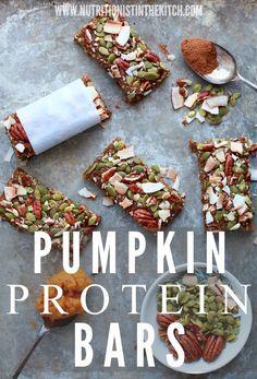 (Healthy + Vegan) Pumpkin Protein Bars via Nutritionist in the Kitch