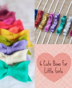 6 cute bows for little girls. So cute! #girls #bows #hair