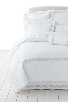 No Iron Embroidered Duvet Cover